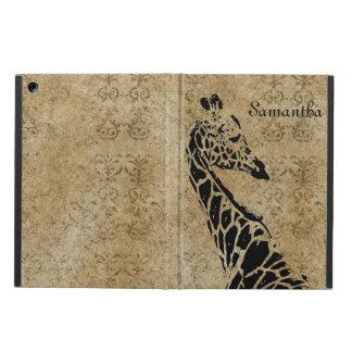 Coque iPad Air Girafe texturisée d'or