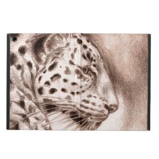Coque iPad Air Jaguar dans l'art chaud de sépia