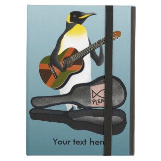 Coque iPad Air Jouer de la musique drôle de pingouin