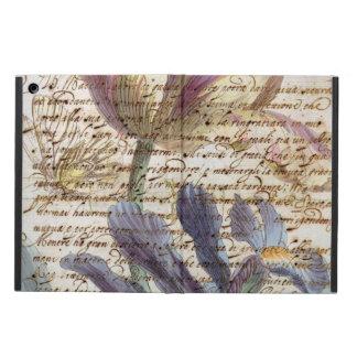 Coque iPad Air Lettre vintage florale