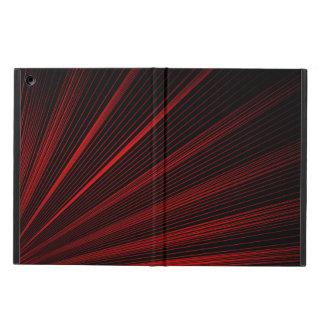 Coque iPad Air Lignes géométriques rouges art abstrait, caisse