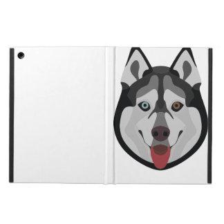 Coque iPad Air L'illustration poursuit le chien de traîneau