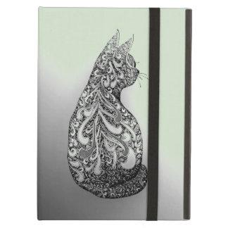 Coque iPad Air Minou noir et blanc de conception originale sur le