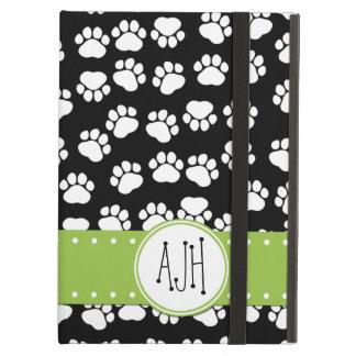 Coque iPad Air Monogramme - pattes de chien, empreintes de pattes