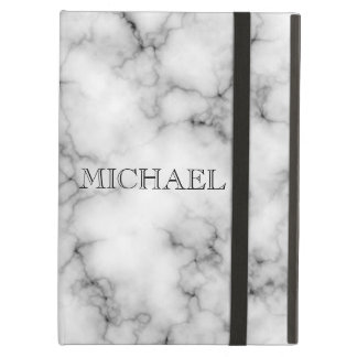 Coque iPad Air Motif de marbre blanc très réaliste avec le