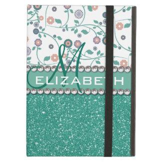 Coque iPad Air Motif de parties scintillantes de fleur de