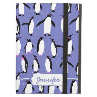 Coque iPad Air Motif mignon de pingouin d'hiver