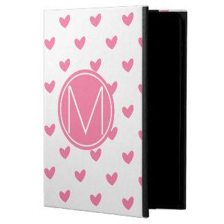 Coque iPad Air Motif minuscule blanc rose élégant de coeur de