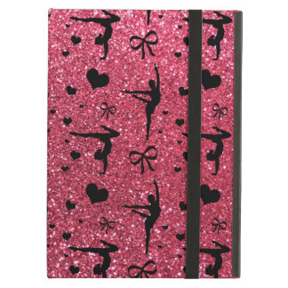 Coque iPad Air Motif rose fuchsia de parties scintillantes de