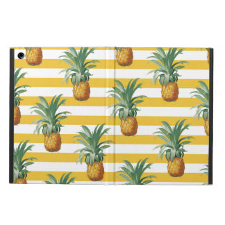 Coque iPad Air rayures jaunes de pinepples