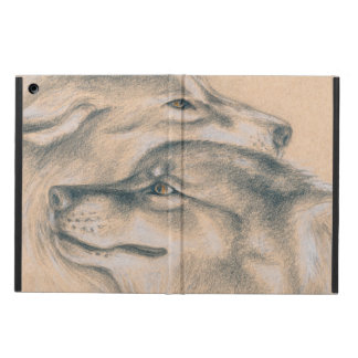 Coque iPad Air Se blottir des loups dessinant l'art