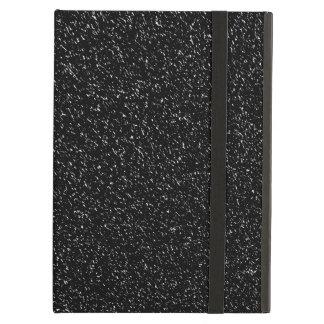 Coque iPad Air Style en pierre noir moderne - l'espace