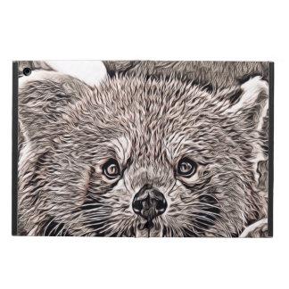Coque iPad Air Style rustique - panda rouge 2