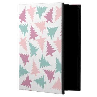 Coque iPad Air Vert pourpre de rose en pastel de motif d'arbre de