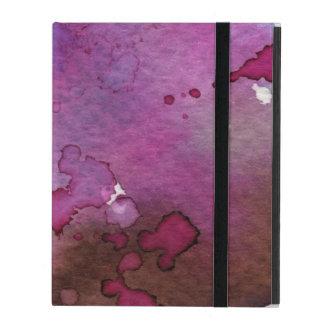 Coque iPad Arrière - plan pourpre d'aquarelle