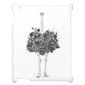 Coque iPad Autruche florale
