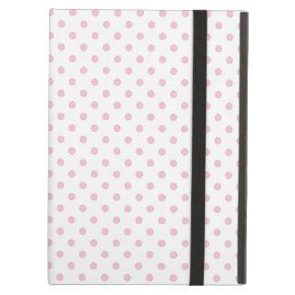 Coque ipad blanc et rose de motif de point de