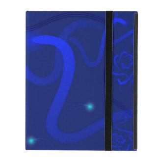 Coque iPad caisse pour des comprimés bleu-foncé