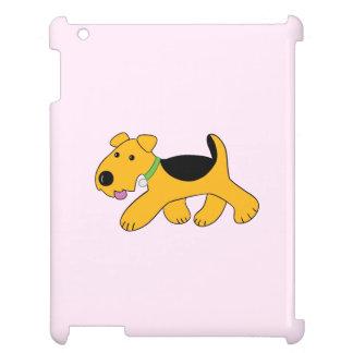 Coque iPad Cas d'iPad de chien de trot Airedale de Kawaii
