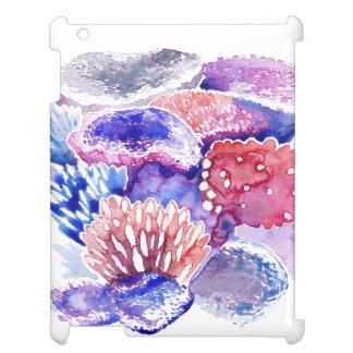 Coque ipad d'aquarelle de récif coralien