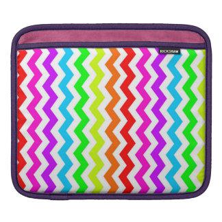 Coque ipad de chevron d'arc-en-ciel poches iPad