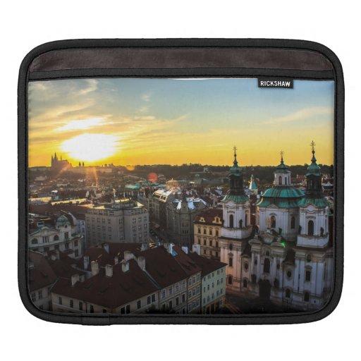 Coque ipad de coucher du soleil de Prague Poches iPad