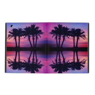 Coque ipad de palmiers de coucher du soleil