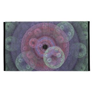 Coque ipad en pastel d'universel de fractale d'arc