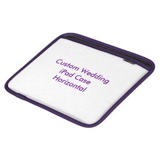 Coque ipad fait sur commande de mariage horizontal poches pour iPad
