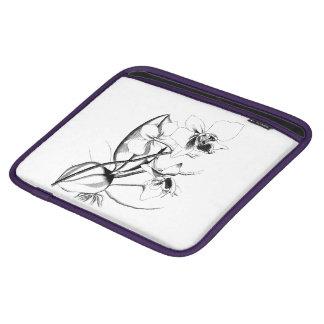Coque ipad floral noir et blanc housses iPad