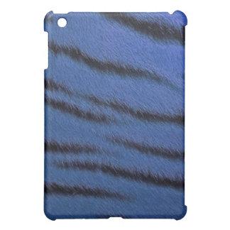 coque ipad - fourrure de tigre - bleu