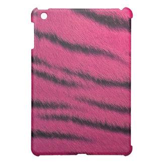 coque ipad - fourrure de tigre - rose