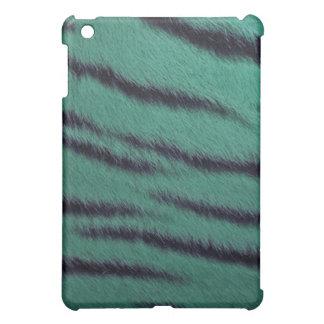 coque ipad - fourrure de tigre - vert