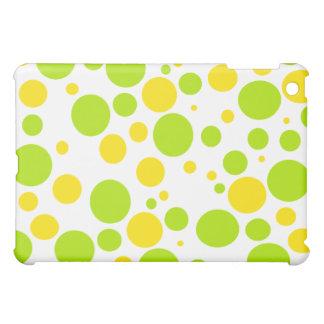 Coque ipad jaune et vert de bulles