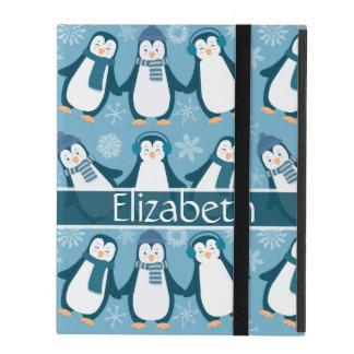 Coque iPad La conception mignonne de pingouins d'hiver