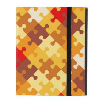 Coque iPad L'automne colore l'arrière - plan de puzzle