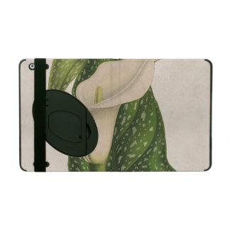 Coque iPad Le vert vintage de zantedeschia de fleur laisse le
