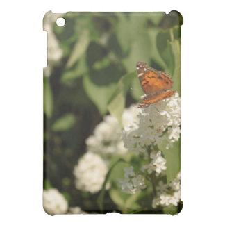 Coque ipad lilas blanc de papillon