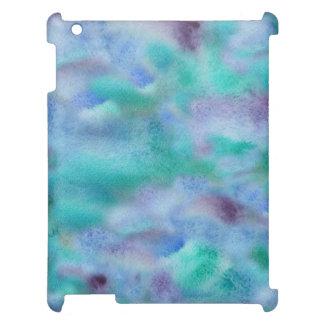 Coque ipad mat pourpre vert