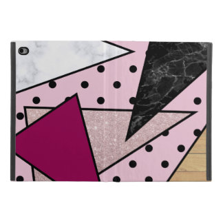 Coque iPad Mini 4 Bois rose géométrique élégant de marbre de parties