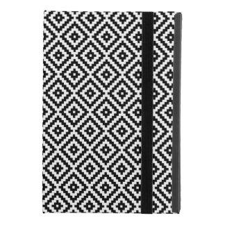 Coque iPad Mini 4 Noir et blanc aztèques du bloc RPT Ptn de symbole