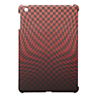 Coque iPad Mini Affaire rouge onduleuse 3 de point