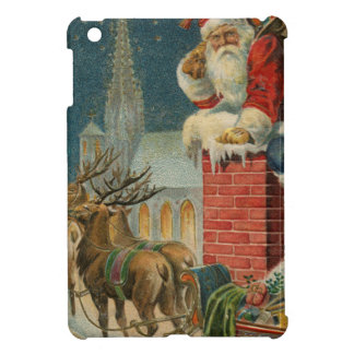 Coque iPad Mini Affiche 1906 clous de Père Noël de cru original