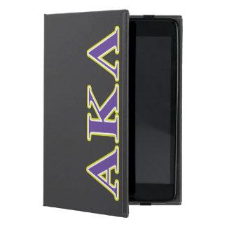 Coque iPad Mini Alpha lettres noires du Kappa lambda