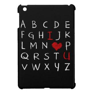 Coque iPad Mini Alphabet d'amour