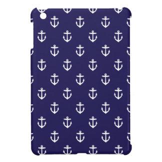 Coque iPad Mini Ancres mignonnes de bleu marine