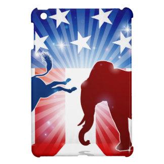 Coque iPad Mini Âne de combat d'éléphant de silhouette