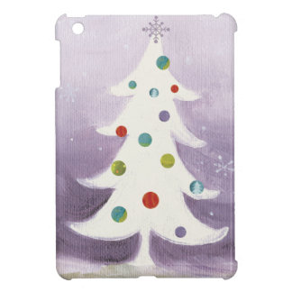 Coque iPad Mini Arbre de Noël blanc