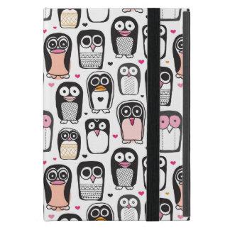Coque iPad Mini arrière - plan d'illustration d'oiseau de pingouin