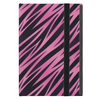 Coque iPad Mini Arrière - plan rose de rayure de zèbre